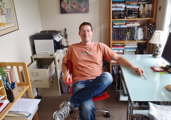 A Portrait of the Author in His Auckland Study