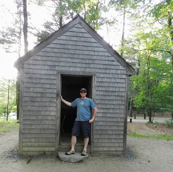Dave at a Replica of Thoreau's Cabin