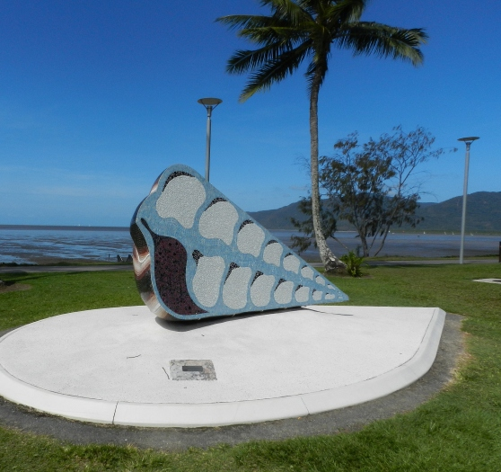 Shell Statue Cairns  waterfront