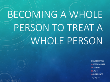 becoming a whole person