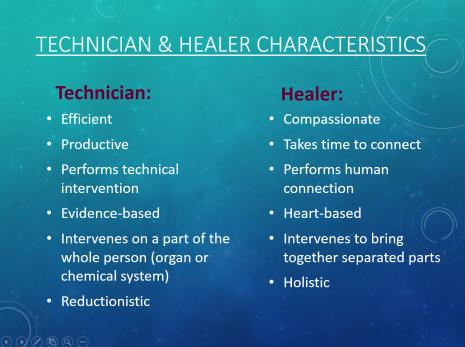 technician.healer characteristics
