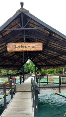 Leleluvia entrance dock