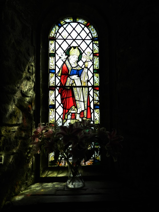 St David Stained Glass @ St. Non's Chapel