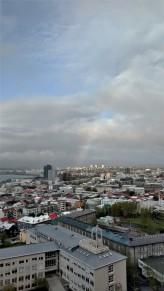 Rainbow from Hallgrímskirkja