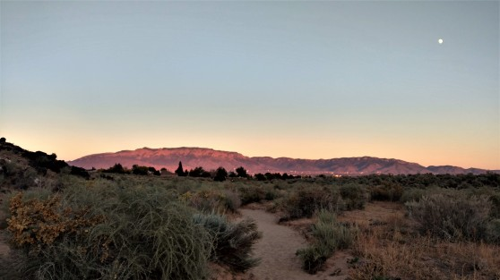 Sandia from Petroglyphs Sunset